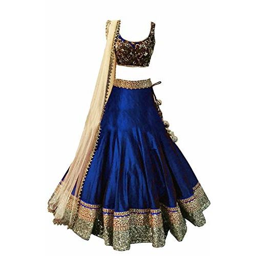 Yovi Empire Girl's Semi-Stiched Occasion Wear Lehenga choli (7-12 Years Freesize)