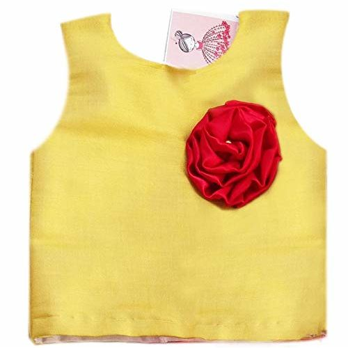 Stanwells kids Red lehenga choli for Babygirls silk Partywear Designer Traditional kids wear, 6m-7yr