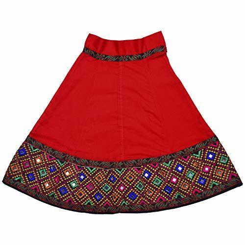 Wish Karo Girl's Stitched Ghaghra Choli, Leghnga Choli, Chania Choli Cotton Dress - (gc143)