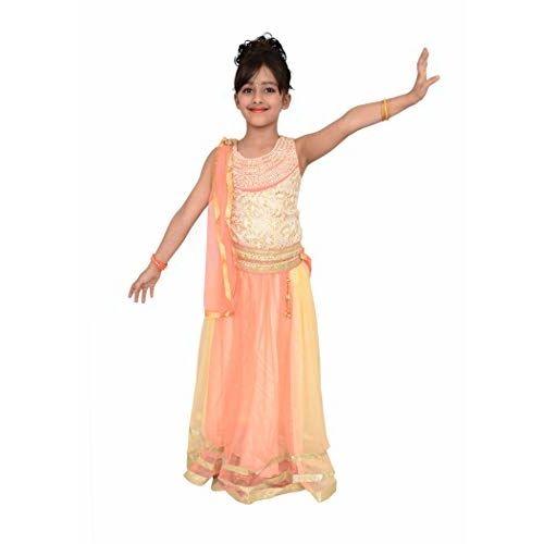 Arshia Fashions Girls Lehenga Choli With Dupatta Set