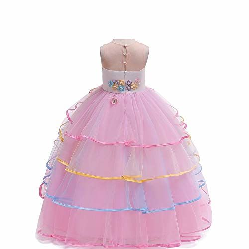 Googo Gaaga Beautiful Unicorn Party Gown Dress for Girls in Pink Colour