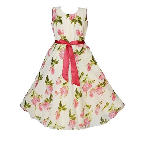 My Lil Princess Baby Girls Birthday Frock Dress_Cutee Pastel_Georgette Fabric_0-12 Years