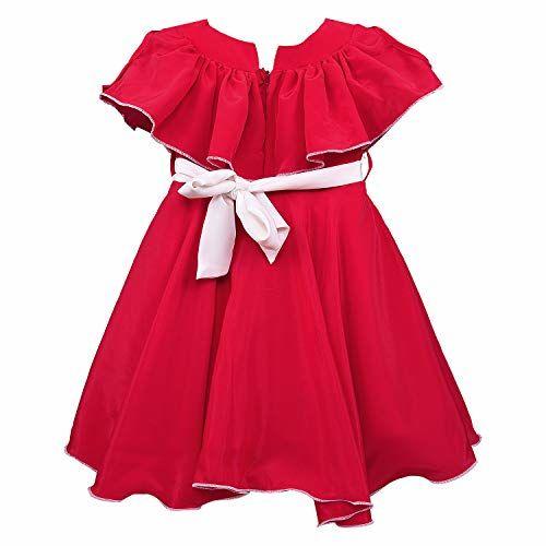 Wish Karo Baby Girls Frock Birthday Dress for Girls - Satin - (fre264)
