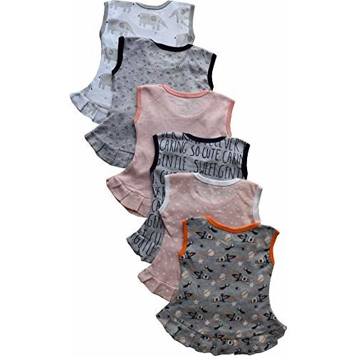 Tinchuk NammaBaby Born Girl Frock Girl's A-Line Frock Girl Dress Jhabla Set of 6