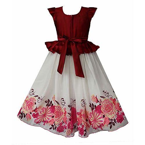 My Lil Princess Baby Girls Tafetta Silk A-Line Dress (Eleena_4 to 10 Years)