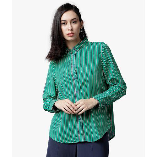 Tokyo Talkies Women Striped Casual Multicolor Shirt