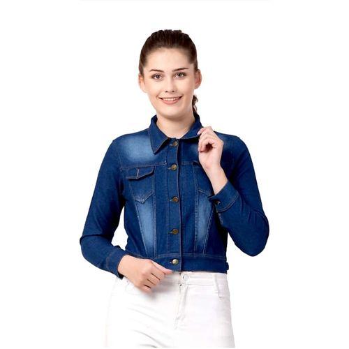 Geetanjali Creations Full Sleeve Self Design Women Denim Jacket