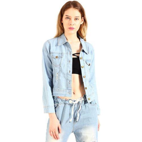 stylemyth Full Sleeve Printed Women Denim Jacket