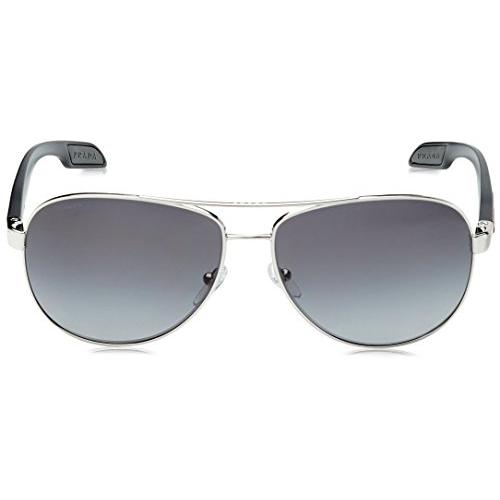PRADA Black Plastic Rectangular Sunglasses