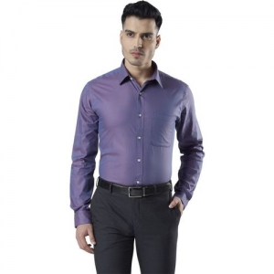 Raymond Men Solid Formal Purple Shirt