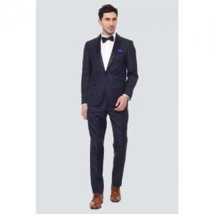 Louis Philippe Two Piece Suit Textured Men Suit