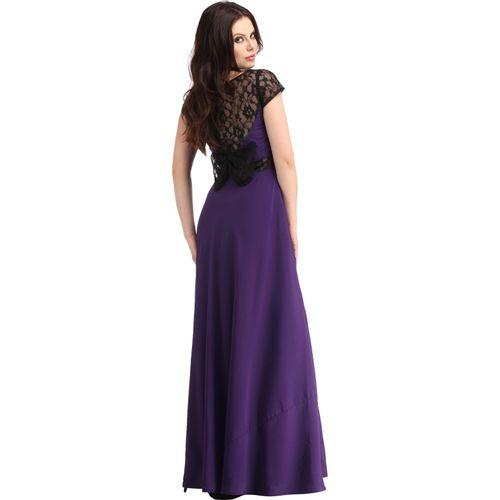 Raas Pret Women Gown Purple, Black Dress