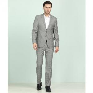 Park Avenue Two Piece Suit Checkered Men Suit