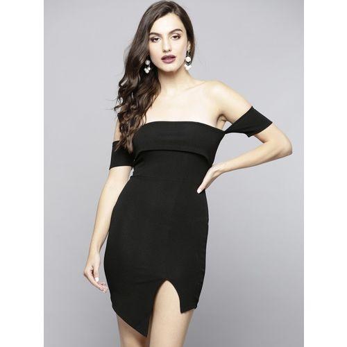 Veni Vidi Vici Women Asymmetric Black, Grey Dress