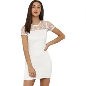 Miway Women Bodycon White Dress
