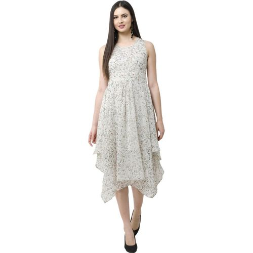SWADESI INDIA Women Fit and Flare White Dress