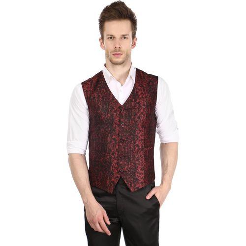 Platinum Studio Self Design Men Waistcoat