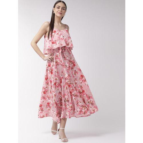 U&F Women Maxi Pink, White, Red Dress