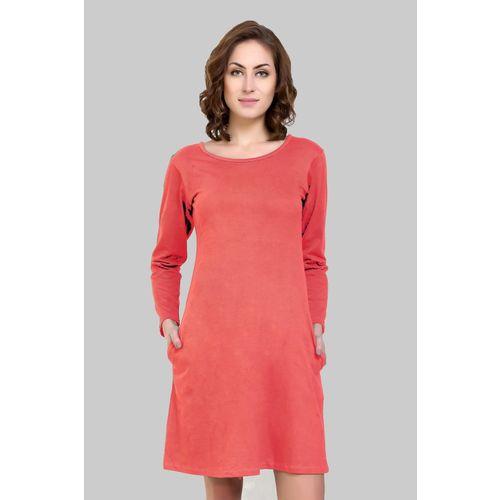 Crease & Clips Women T Shirt Pink Dress