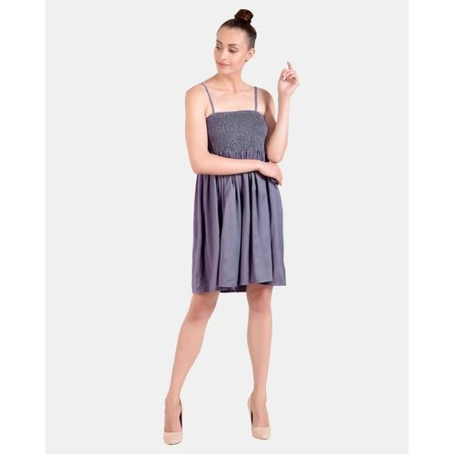 Addyvero Women Fit and Flare Grey Dress