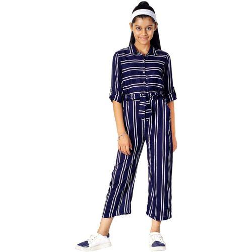 Naughty Ninos Striped Girls Jumpsuit