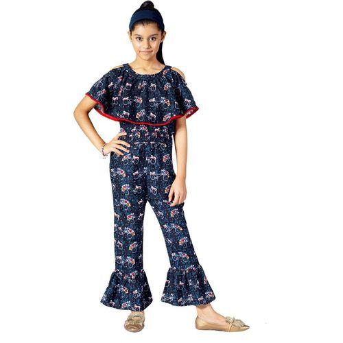 Naughty Ninos Printed Girls Jumpsuit