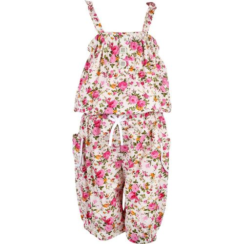 Arshia Fashions Floral Print Girls Jumpsuit