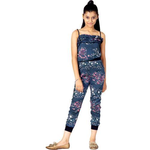 Naughty Ninos Floral Print Girls Jumpsuit