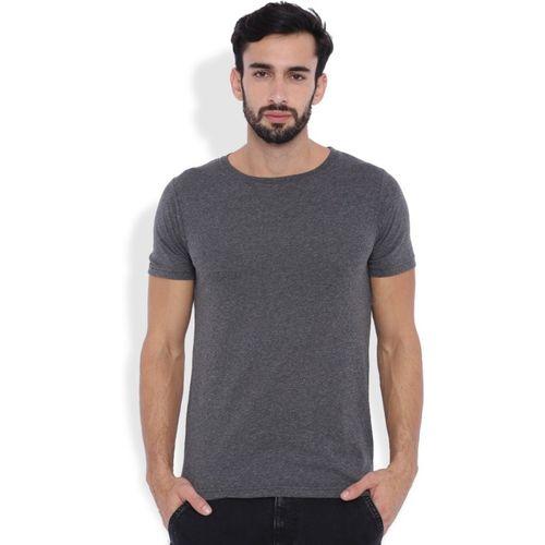Rodid Self Design Men Round or Crew Grey T-Shirt
