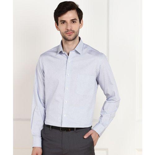 Arrow Men Checkered Formal Blue Shirt
