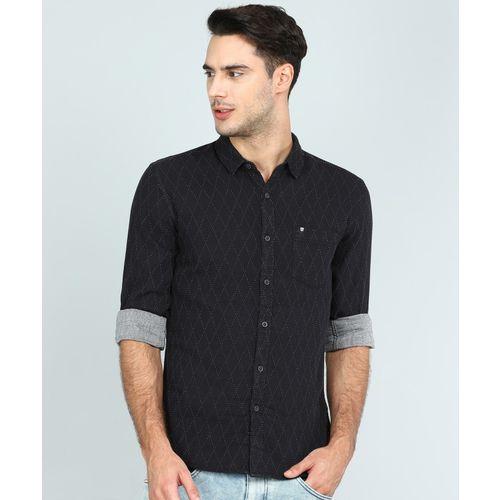 Wrangler Men Printed Casual Black Shirt