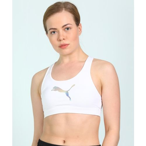Puma 4Keeps M Women Sports Non Padded Bra(White)