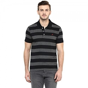 AMERICAN CREW White Cotton Short Sleeve Striped Polos For Men