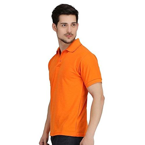 kalpit creations Kalpit Men's Comfort Soft Cotton Plain Polo Collar Half Sleeve T-Shirt with Solid Color (Available in Many Colours)