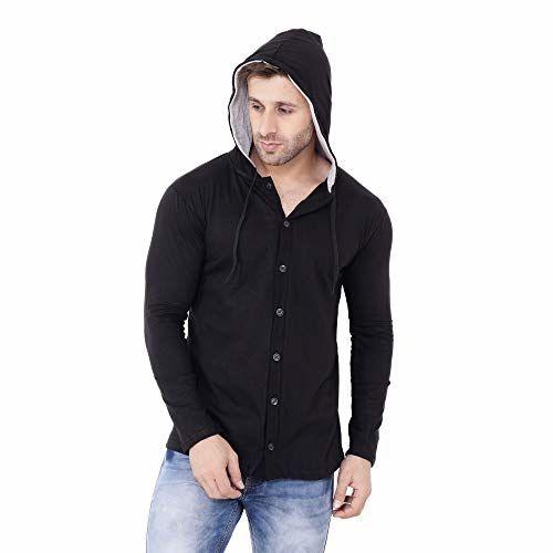 Blisstone Men's Cotton Hooded T-Shirt