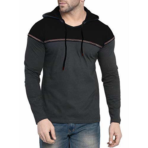 Fenoix Multicolour Cotton Hooded T-Shirt