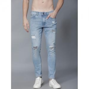 HIGHLANDER Men Blue Slim Fit Mid-Rise Highly Distressed Stretchable Jeans