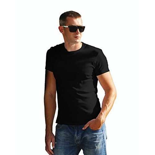 Joli and Bonito Soft Men's Round Neck Biowash Half Sleeve Cotton Plain T-Shirt (Available in Pack of 1, Combo Pack of 2, Combo Pack of 3 and Combo Pack of 4)