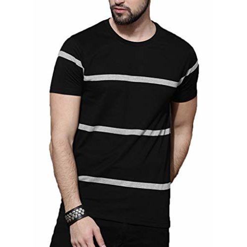 STYLENSE Men's Half Sleeve Round Neck Cotton T-Shirt - Multicolor