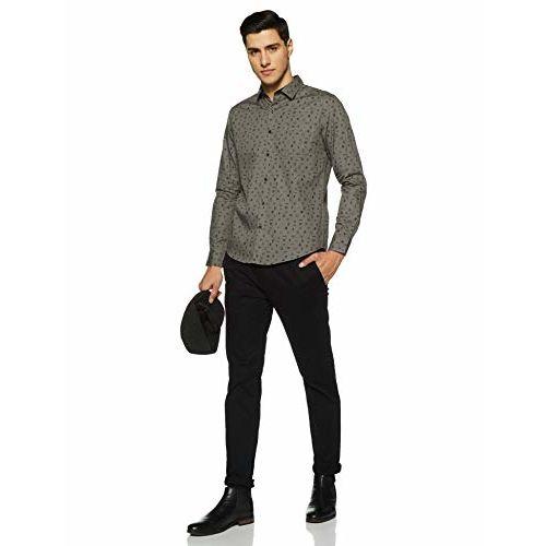 Diverse Men's Printed Slim Fit Casual Shirt