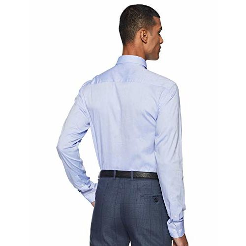 Raymond Medium Blue Slim Fit Cotton Shirt