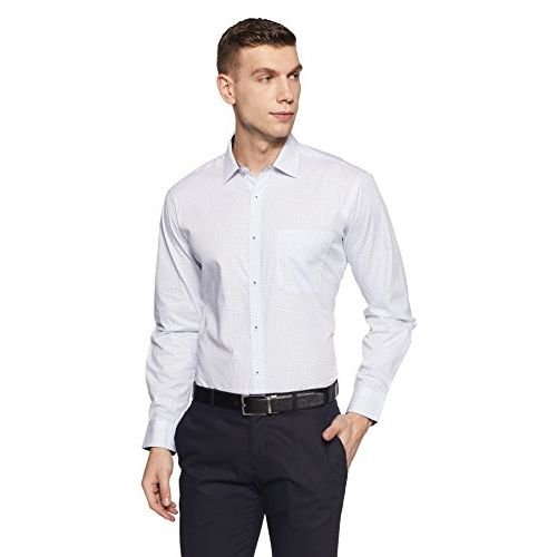 Amazon Brand - Symbol Men's Regular Fit Full Sleeve Cotton Formal Shirt