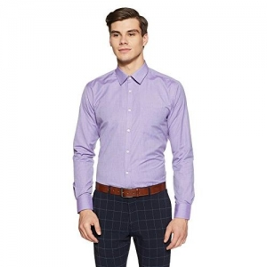 Park Avenue Violet Slim Fit Cotton Blend Shirt