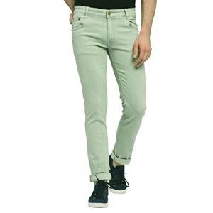 STUDIO NEXX Olive Denim Regular Fit Stretch Jeans