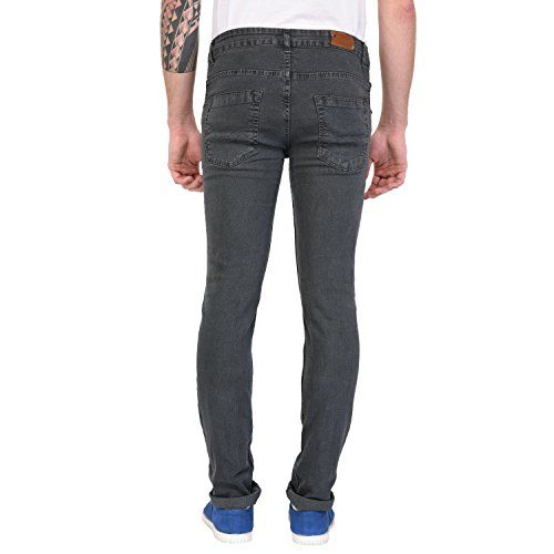 STUDIO NEXX Men's Regular Fit Stretch Jeans (Medium Grey)
