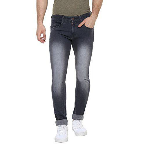 Urbano Fashion Men's Dark Grey Slim Fit Stretchable Jeans