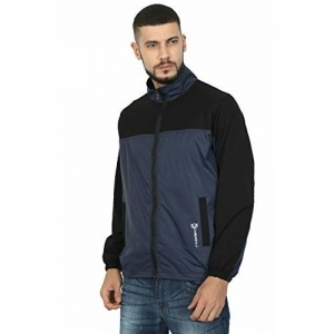 VERSATYL Blue Full Sleeve Polyester Windcheater