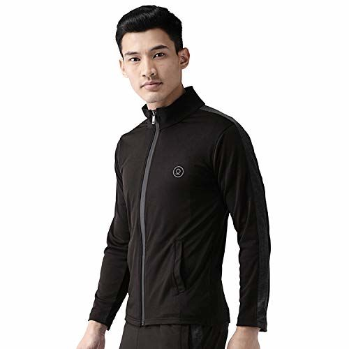 CHKOKKO Polyester Sports Gym Running Full Sleeves Zipper Jacket Or Casual Sweatshirts for Men