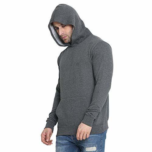 CHKOKKO Winter wear Cotton Full Sleeve Hooded Sweatshirt Tshirt for Mens with Pocket