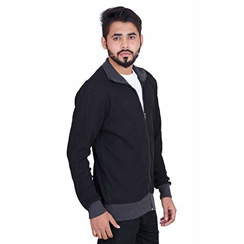 CARBON BASICS All Weather Thin Cotton Waffle Jacket with High Neck Collar & Zipper for Mens & Boys